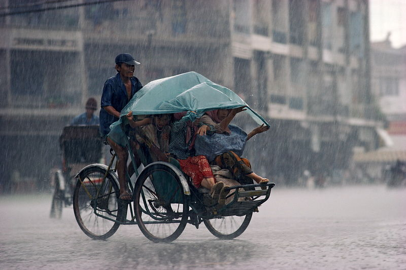 Phnom Penh, Cambodia in the rain